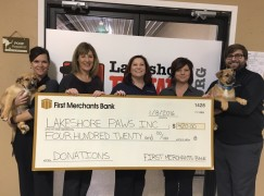 FIRST MERCHANTS BANK SPONSORS JEANS DAY FOR THE BENEFIT OF LAKESHORE PAWS