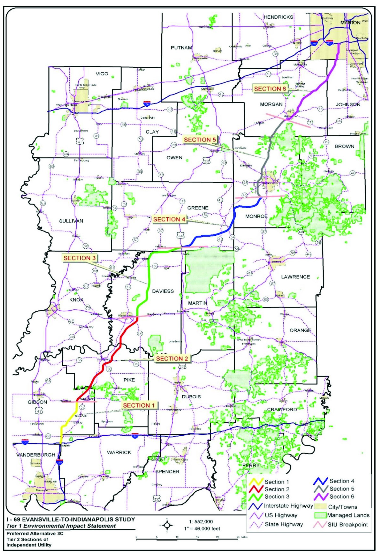 I69 Indiana Map.Evansville To Indianapolisevansville To Indianapolis Building Indiana