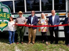 Partners Unveil New Dunes Learning Center Propane Bus