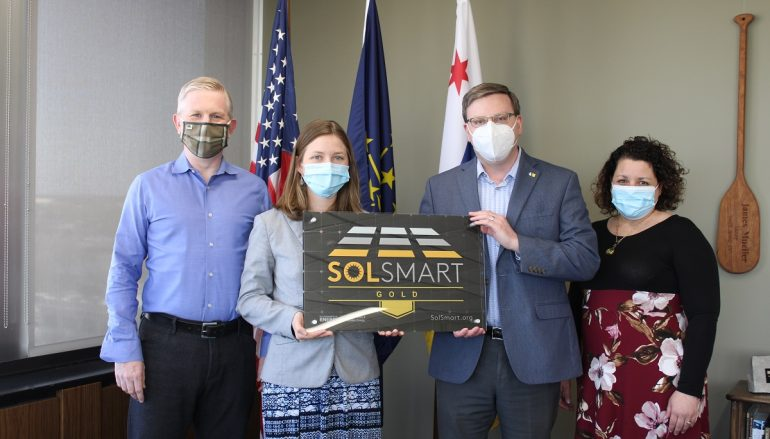 South Bend Earns Gold Designation for Solar
